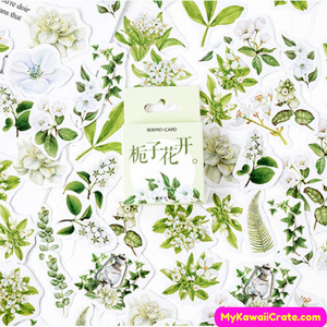 Gardenia Flower Stickers