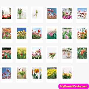 46 Pc Pack Tulip Season Decorative Stickers