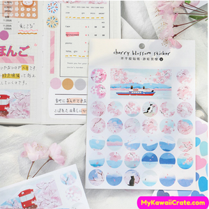Japan Flowers Stickers