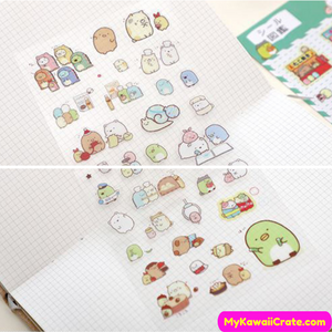 Sumikko Gurashi and Friends Mini Stickers 4 Sheets Set
