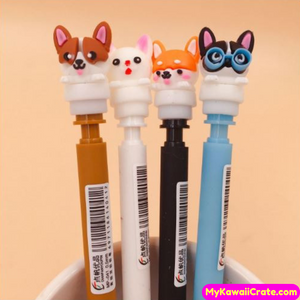 4 Pc Best Friends Dogs Mechanical Pencils