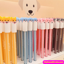 4 Pc Cute Dog Party Gel Pens