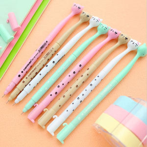 4 Pc Set Kawaii Adorable Cat Gel Pens