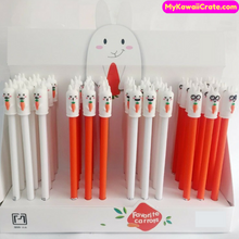 4 Pc Funny Rabbit Eats Carrot Rollerball Gel Pens