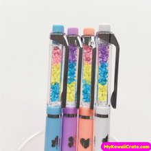4 Pc Diamond Rainbow Encouragement Mechanical Pencils