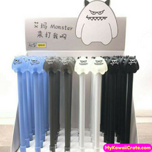 4 Pc Funny Cartoon Monster Gel Pens