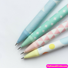 4 Pc Kawaii Happy Pastel Mechanical Pencils