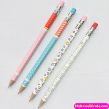 4 Pc Kawaii Fresh Simple Press Mechanical Pencils