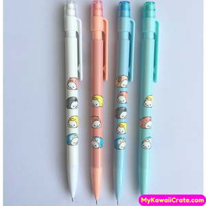 4 Pc Kawaii Mamegoma Baby Seal Mechanical Pencils