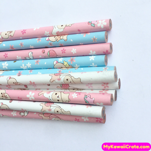 4 Pc Kawaii Rilakkuma HB Standard Wooden Pencils