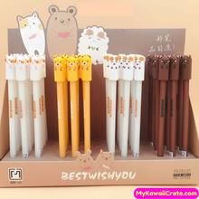4 Pc Kawaii Silly Gang Gel Pens