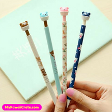2 Pc Kawaii Cute Bear Cake Mechanical Pencils
