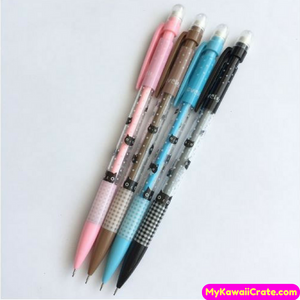 4 Pc Lovely Black Kitten Mechanical Pencils