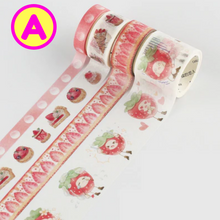 4 Pc Pack Strawberry Season Washi Tapes