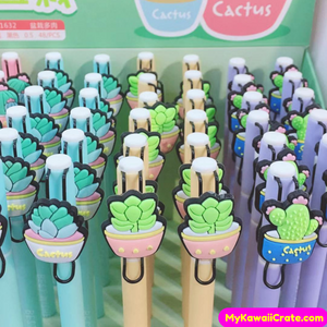 4 Pc Succulent Plants and Cactus Gel Pens