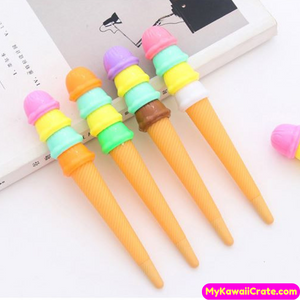 4 Pc Sweet Ice Cream Scoops Gel Pens