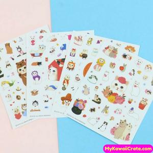 4 Sheets Kawaii Sweet Kitty Cat Decorative Stickers