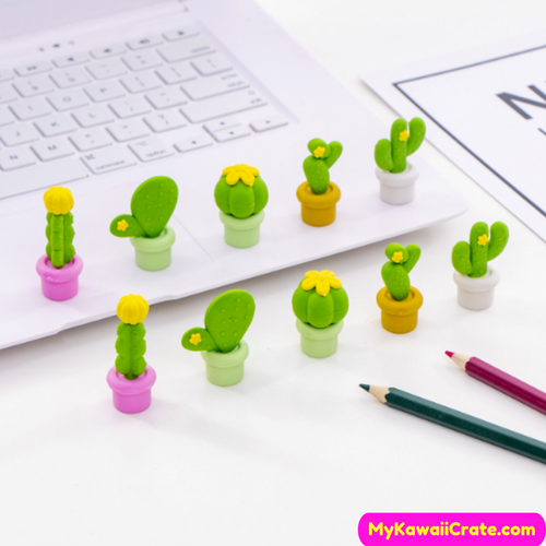 Cactus Pencil Erasers