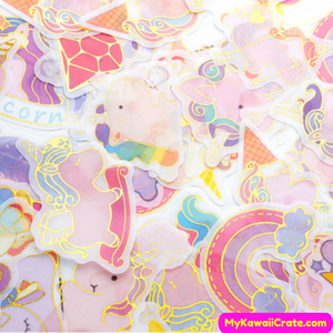 Kawaii Unicorn Stickers