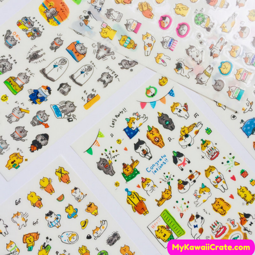 Cute Cats Decorative Stickers