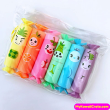 6 Pc Pk Colorful Fruits Pocket Size Highlighters