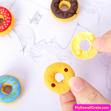 6 Pc Pack Frosted Donuts Pencil Erasers