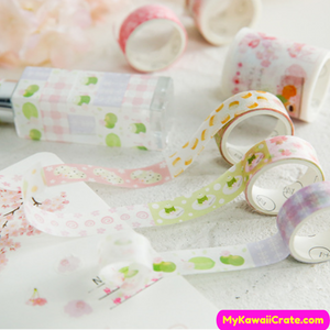 Kawaii Pastel Colors Washi Tapes