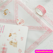 Pink Flowers Deco Tapes