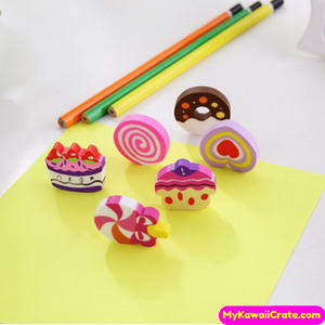 6 Pc Pack Sweet Cake Erasers