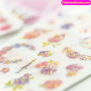 6 Sheets Colorful Flowers and Birds Swan Owl Cat Decorative Stickers