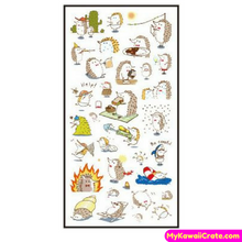 6 Sheets Hedgehog Adventures Decorative Stickers