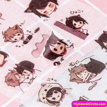 6 Sheets Japanese Neko Boy Neko Girl Anime Stickers