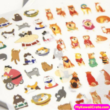 6 Sheets Kawaii Cute Dog Funny Cat Cartoon Stickers