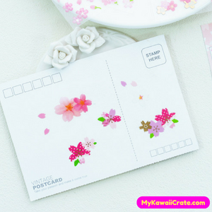 6 Sheets Romantic Japanese Sakura Flowers Decorative Stickers