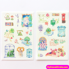 6 Sheets Classical Beauty Decorative Stickers