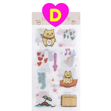 6 Sheets Set Kawaii Funny Cat Rabbit on Vacation Stickers