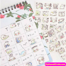6 Sheets Kawaii Mamegoma Cute Baby Seal Decorative Stickers