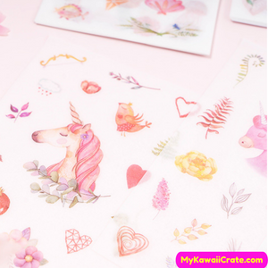 Whimsical Unicorn Decorative Stickers