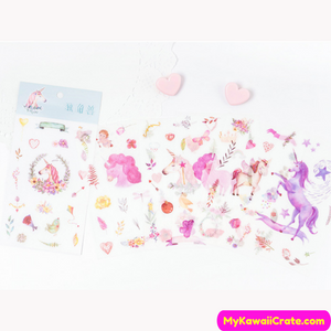 Beautiful Unicorns Sticker Set