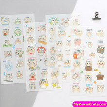 6 Sheets Set ~ The Busy Life of a Cat Decorative Stickers