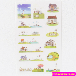6 Sheets Zakka Leisure Time Decorative Stickers