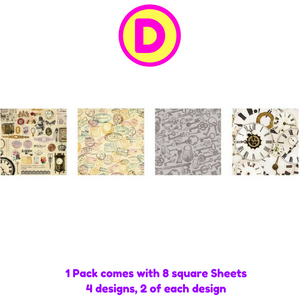 Creative Background Square Stickers Set