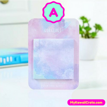 Kawaii Watercolor Whimsical Sticky Memo Notes