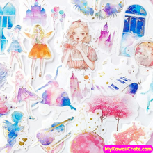 60 Pc Pk Enchanting Fantasy World Decorative Stickers
