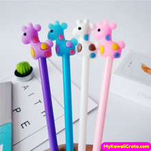 4 Pc Kawaii Baby Giraffe Gel Pens Set