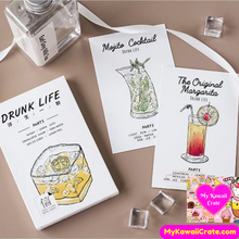 Bartender Cocktail Recipes Mini Postcards