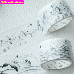 Black and White Scenery Washi Tape / Masking Tape