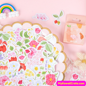 Floral Plants Leaf Stickers