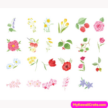 46 Pc Pack Blooming Flowers Decorative Stickers