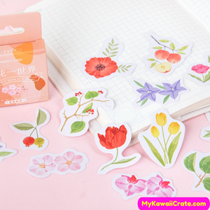 Flowers Drawing Stickers